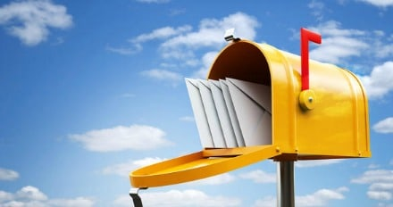 relève du courrier