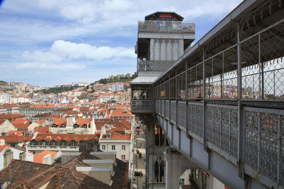 Ascenseur santa justa Lisbonne
