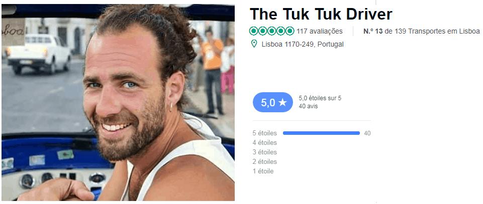 Tuk Tuk Driver à lisbonne
