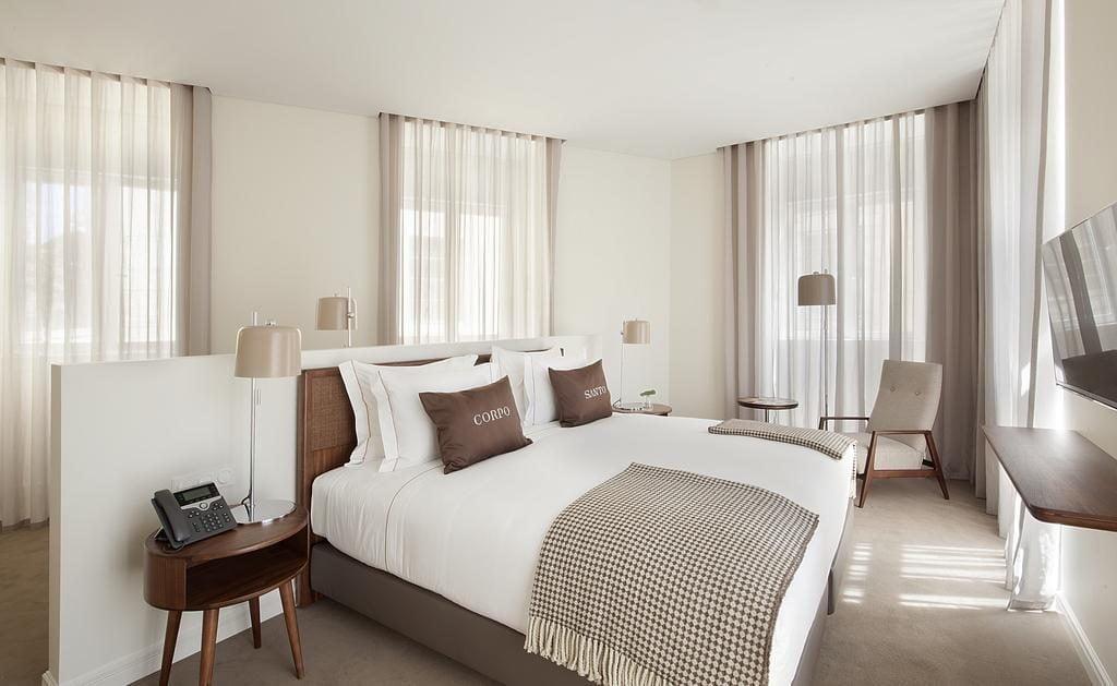 Hotel de charme Corpo Santo Lisbonne chambre