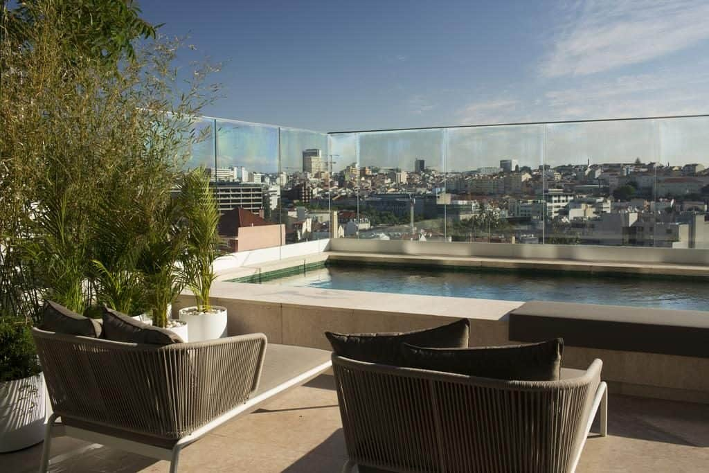 Hotel Romantique Memmo Principe Real Lisbonne terrasse