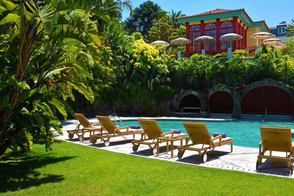 Hotel de charme Pestana Palace Lisbonne piscine