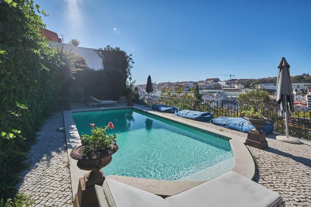 Hotel de luxe Torel palace Lisbonne piscine