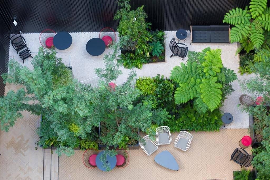 Hotel de luxe valverde Lisbonne jardin