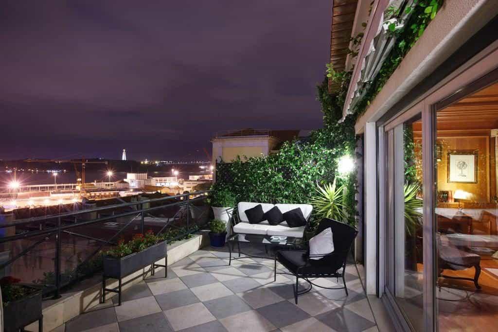 Hotel de charme As Janelas Verde Lisbonne balcon