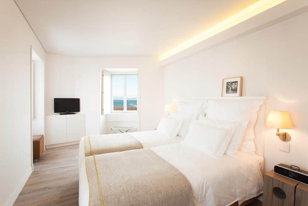 Hotel de luxe Memmo Alfama Lisbonne chambre