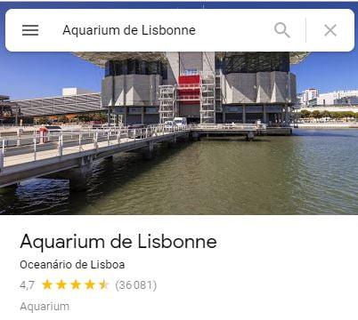 Aquarium de Lisbonne avis